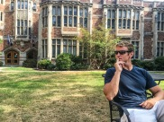Thinking deeply about things at Yale. Lunch. I was thinking about lunch.
